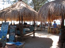 Warung by the sea in Gili Trawangan