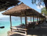 Drinking by the sea in Gili Meno