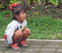 Little girl crying @Pura Besakih