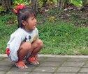 Little girl crying @Pura Besakih