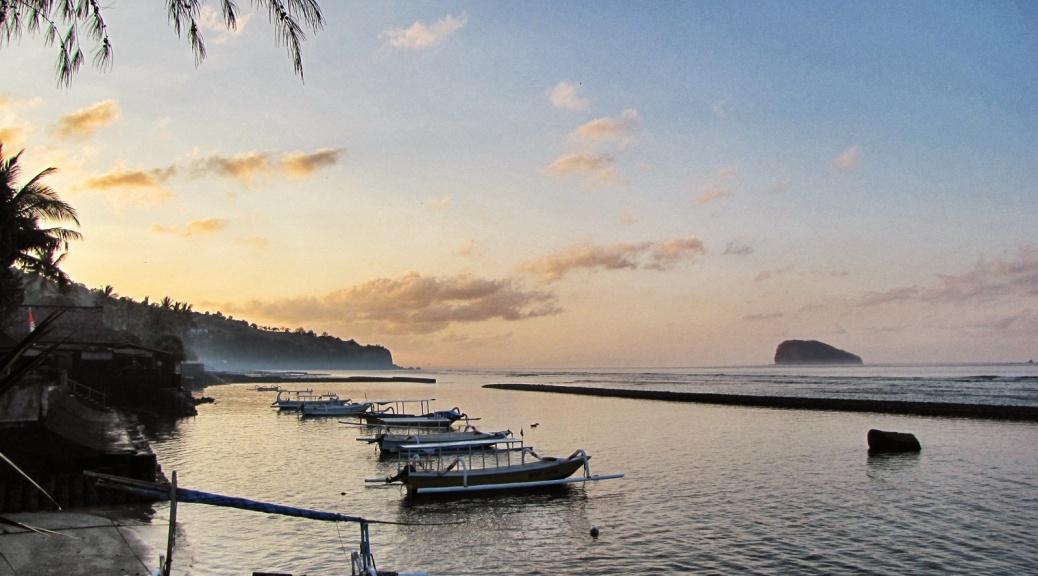 Sunrise in Candidasa, Bali