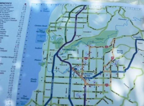 McLaren Vale map