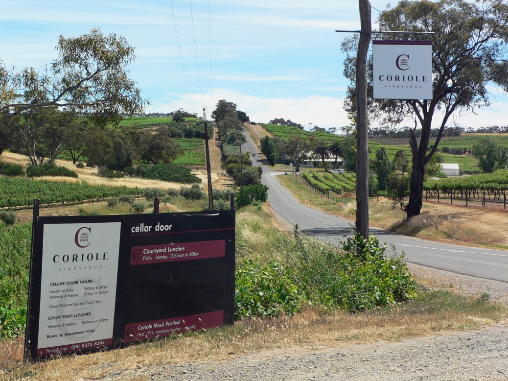 Coriole winery South Australia