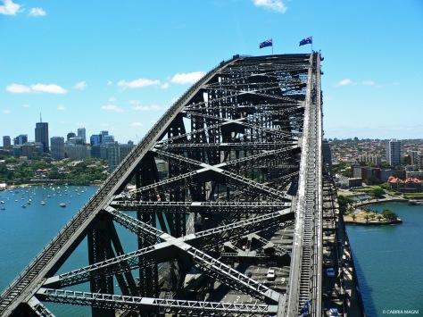 Up the bridge