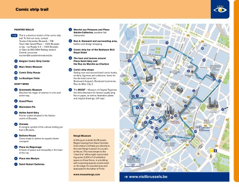 Brussels Comic Strip Trail from visitbrussels.be