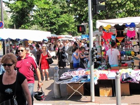 Avenue du Prado, mercato