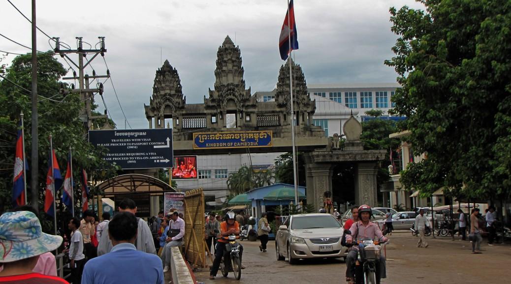 Poipet border Thailand Cambodia