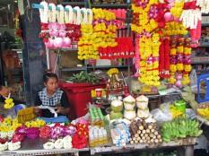 Offerings outside Wat Khaek