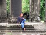 Outside Angkor Wat, Cambodia