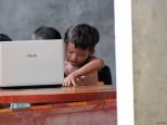 Studying children, Cambodia