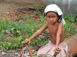 Child in Battambang province, Cambodia