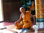 Monk in Battambang province, Cambodia