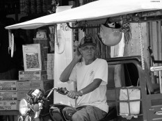 Tuk tuk driver, Battambang province, Cambodia