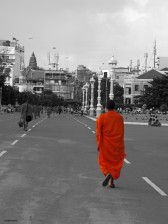 Monks in Phnom Penh, Cambodia