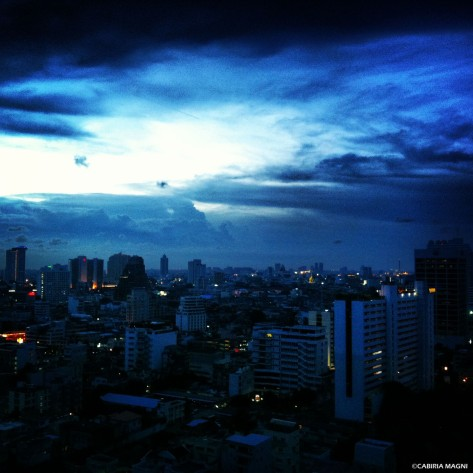 Sunset in Bangkok (tks Andrea & Kevin!)