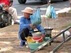 Selling eggs in Phnom Penh, Cambodia