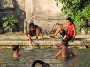 Children in Candidasa, Bali