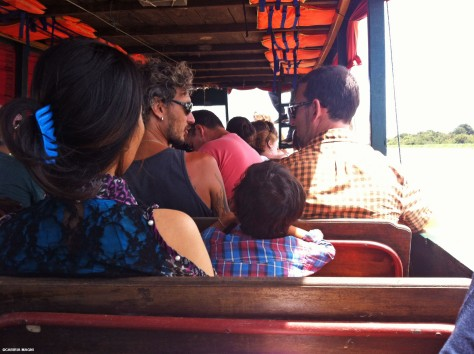 On the boat to Battambang