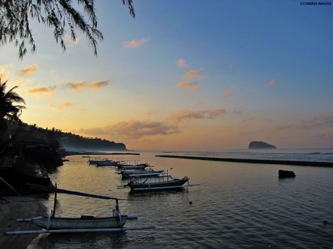 My personal sunrise in Candidasa - Bali