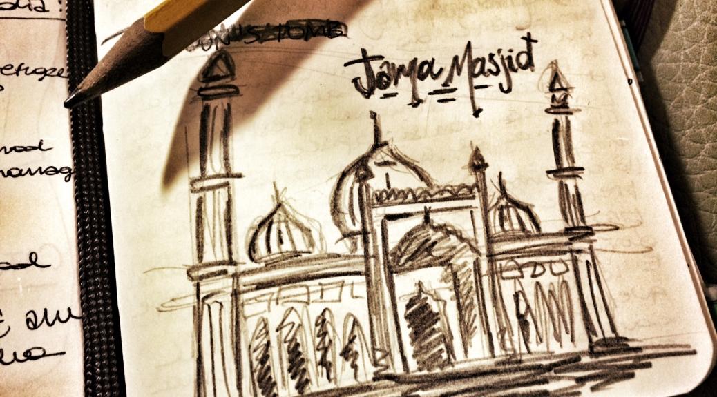 disegno moschea cabiria magni