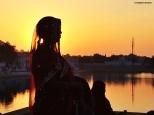 sunset Pushkar India