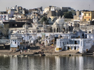 Pushkar by the lake