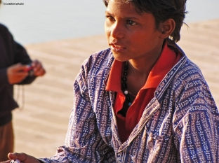 pushkar boy sunset