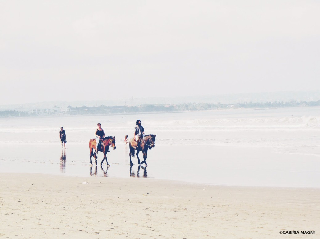 Horse riding on the beach legian bali