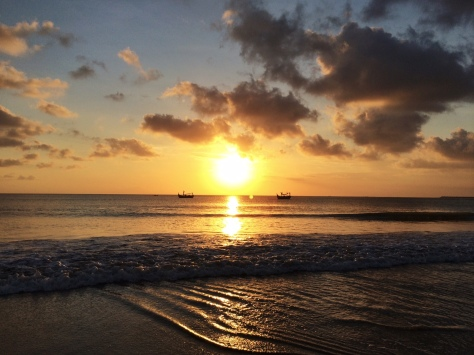 Sunset in Jimbaran beach bali
