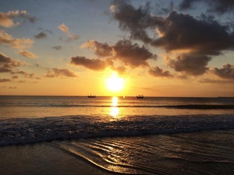Sunset in Jimbaran beach bali