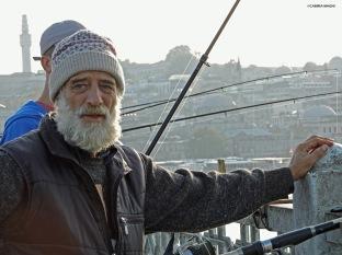 Pescatore sul ponte di Galata Cabiria Magni Istanbul