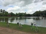 In bici a Sukhothai