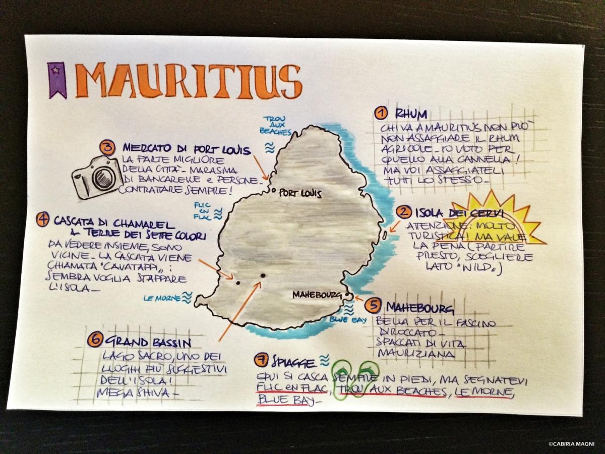 Mauritius: sette appunti sulla mappa