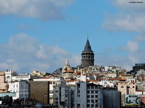 La torre di Galata profilo Istanbul