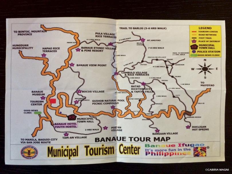 Banaue tour map, Filippine