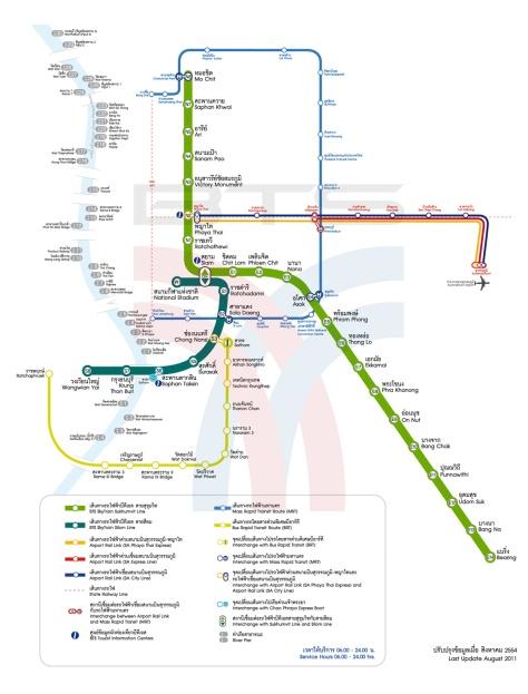 Mappa dei trasporti di Bangkok