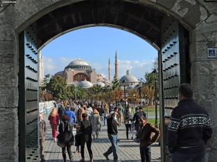 Hagia Sophia vista dalla Moschea Blu, Istanbul, Cabiria Magni