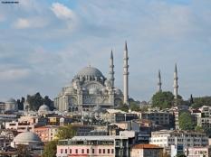 La moschea di Solimano dal ponte di Galata, Istanbul, Cabiria Magni