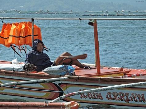 Talisay, il capitano della barca. Filippine