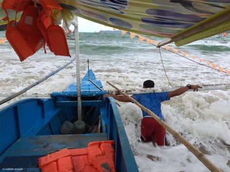 Sabang: il capitano della barca, Palawan, Filippine