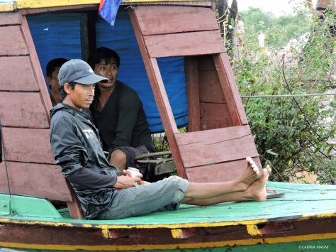 Kampong Phluk, boat, Cabiria Magni