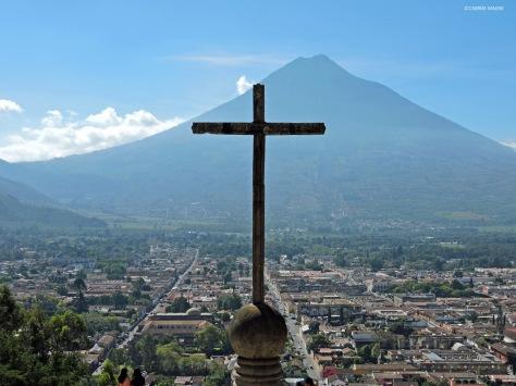 Antigua, panorama dal Cerro de la Cruz, Cabiria Magni