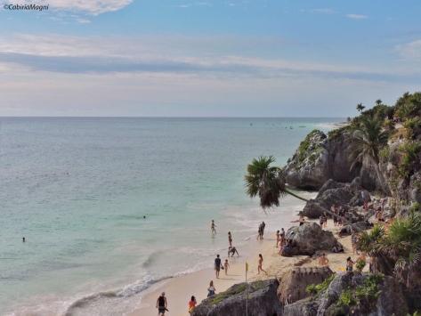 La spiaggia di Tulum. Cabiria Magni, Messico