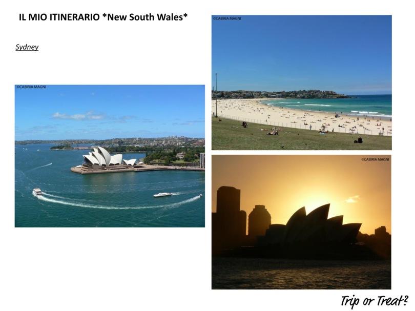 Il mio itinerario: New South Wales