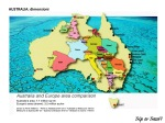 Australia: le dimensioni rispetto all'Europa