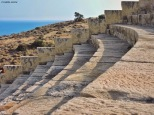 Teatro di Kourion, scalinata. Cabiria Magni, Cipro
