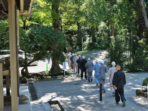 Engaku-ji, monaci. Kamakura, Japan, Cabiria Magni