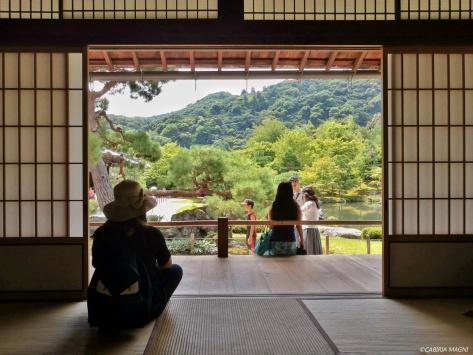 Kyoto, Arashiyama: in contemplazione al Tenryuji. Cabiria Magni, Giappone