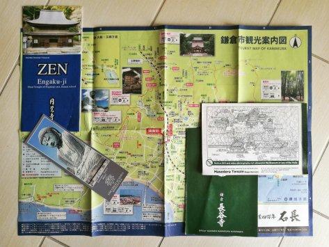 Mappa e templi di Kamakura, Giappone, Cabiria Magni