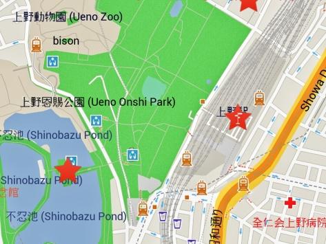 Mappa Ueno, Tokyo. Giappone Cabiria Magni